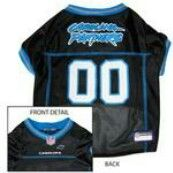Carolina Panthers Officially Licensed Dog Jersey - Blue Trim PRS#10298 Phancipawsonlinepetstore.com