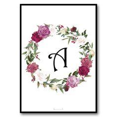 DIN A4 Poster – Flower Initialen – kostenlos downloaden ! free download !