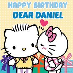 Sanrio: Hello Kitty & Daniel:) Hello Kitty Wedding, Hello Kitty Birthday, Hello Kitty Art, Hello Kitty Images, Hello Hello, Miss Kitty, Bad Kitty, Baby Friends, Happy Birthday Dear