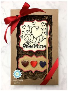 Paint-Your-Own cookie gift box, Valentine's Day sugar cookies