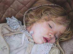 Marceline    Pastel painting,  30x40 cm