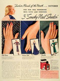 1932 half moon nail art - love it!