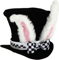 Alice in Wonderland Party ~ whire rabbit hat. love this