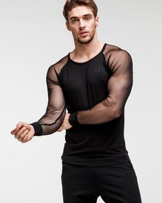 Fashion Brand, Mens Fashion, Fashion Outfits, Black Men, Black Tops, Gay Outfit, Lingerie For Men, Stylish Mens Outfits, Mode Inspiration