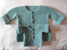 pietro e giulio Baby Knitting Patterns, Knitting For Kids, Crochet For Kids, Crochet Baby, Knit Crochet, Knit Baby Sweaters, Knitted Baby Clothes, Tricot Baby, Baby Cardigan