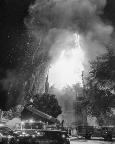 Ricknohlmedia Bw Image From Wakefield Ma 7 Alarm Fire At The First Baptist Church
