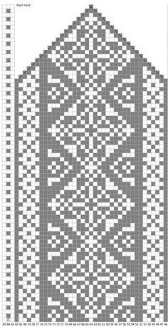67 Ideas For Crochet Gloves Chart Fair Isles Crochet Mittens Pattern, Crochet Mandala Pattern, Loom Knitting Patterns, Crochet Gloves, Knit Mittens, Knitting Charts, Knitting Stitches, Knitting Sweaters, Fair Isle Knitting