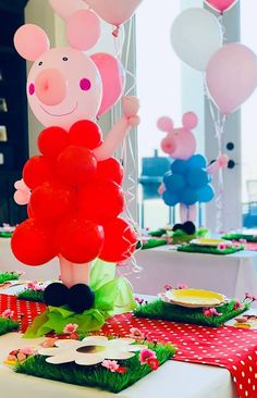 peppa pig Puddling jumping for party ideas? Splash into this Peppa Pig Birthday Party by Jessica Fresch of Fresch & Fancy, out of Frisco/Texas/USA! Peppa Pig Birthday Decorations, Peppa Pig Birthday Cake, Fiestas Peppa Pig, Cumple Peppa Pig, 3rd Birthday Parties, 2nd Birthday, Special Birthday, Birthday Ideas, Peppa Pig Party Supplies