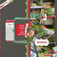 Page Ideas for Scrapbooking Your Food   Cynthia T.   Get It Scrapped