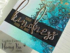 Lydia Evans - VIDEO- Honey Bee Stamps August Release Blog Hop