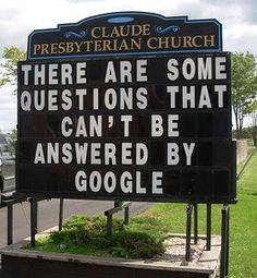 """""""Claude Presbyterian Church – There are some questions that can't be answered by Google"""""""