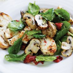 Greek-style Mushrooms with Haloumi | #australiaday #aussiebbq #vegetables