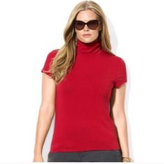 Banana Republic Red Sweater Banana Republic Red Turtleneck Cap Sleeve Sweater. Like new. Banana Republic Tops Sweatshirts & Hoodies
