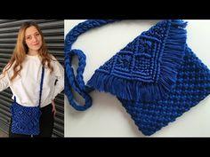 KAPAKLI MAKROME ÇANTA YAPIMI - YouTube Macrame Bag, Macrame Tutorial, Maker, Haberdashery, Merino Wool Blanket, Tote Bag, Knitting, Sewing, Crochet