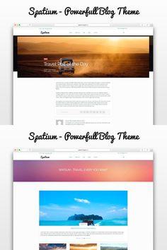 Spatium - Fast Theme for Bloggers. WordPress Blog Themes. $39.00