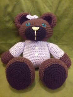 Purple Snuggle Bear by HandcraftedbyJenn on Etsy, $15.00