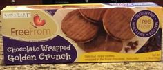 These taste like coconut shortbread cookies topped with chocolate. My local HEB grocery store is carrying a variety of gluten free products.