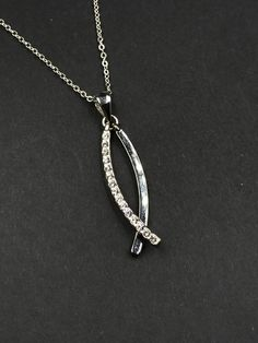 Premier Design Day Night Pendant Infinity Fish Symbol Necklace - Vintage Jewelry - Costume - High End - Designer - Dangle - Style - REMIjewels.com #style #fashion #infinity #fish #symbol