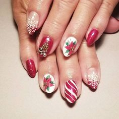 Lily (@misslilysnails) on Instagram: Christmas nails for my Mommy!