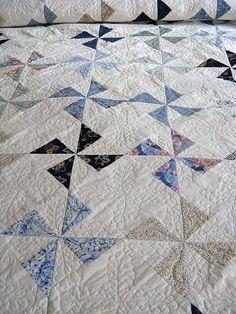 Pinwheel quilt, via Flickr.