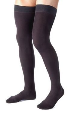 86d890e52d6 Absolute Support  Compression Stockings for Men - Made in the USA - Thigh  High with Grip Top - Firm Graduated Compression 20-30mmHg