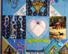 Horse, dog, Fidget Activity Tactile Sensory Quilt Blanket for Alzheimer's, dementia, anxiety, brain trauma patients