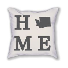 "The Washington Home State Pillow is an 18""x18"" pillow showing off the place you call home! The pillow is already stuffed and ready to be displayed in your home."