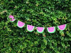 Pink Watermelon Burlap Banner by GiftsbyGaby on Etsy