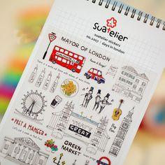 Aliexpress.com : Acquista 1 x SONIA London Vacanza adesivo di carta FAI DA TE adesivo decorativo per album scrapbooking kawaii cancelleria diario sticker da Fornitori adesivi sticker affidabili su La Vie Store