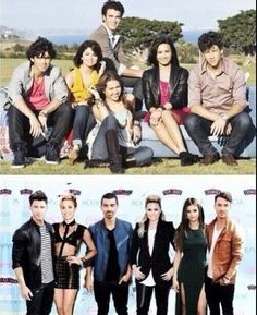 then and now wow alot has changed im so mad about what joe did to his hair:(