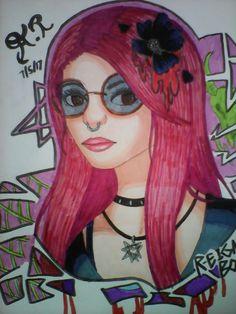 #Anime #Manga #Art #Reignbot #Fanart #Youtuber #Horror #Macabre #Punk #Goth #Pop #Flowers