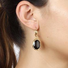 18k gold plated Earring Pearl Earrings, Drop Earrings, Black Onyx, Timeless Fashion, Fashion Earrings, 18k Gold, Jewelry Watches, Brass, Jewels