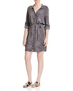 THREE DOTS Snake Print Shirt Dress. #threedots #cloth #dress