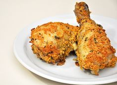 Amazing oven fried chicken recipe - tastes delicious, crispy, and better for you than standard fried fare!