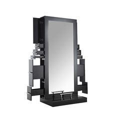 New - Double Mirror #Styling #Station! Ideal for salons and shops looking to add a professional look, saving space & featuring ample storage! #salonequipment #kellerinternational