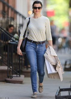 Casual outing: Rachel Weisz dressed down for a stroll in New York City on Thursday...