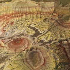 Aerial of the Painted Hills, John Day Fossil Beds National Monument, Oregon