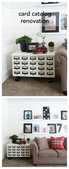 Furniture Ideas| card catalog renovation pin