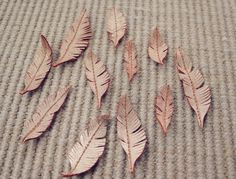 Beautifully Contained: How to Make Leather Feathers