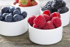 Berries are rich with antioxidants.