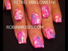 5 Nail Art Tutorials | DIY Halloween Nails | Neon Mix N Match Design