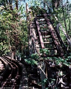 Abandoned rollercoaster at Chippewa Lake in Ohio