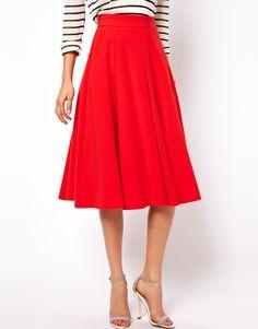 ASOS   ASOS Full Midi Circle Skirt with Pockets at ASOS