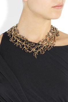 Aurélie BidermannAphrodite gold-plated tree branch necklace