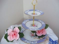 Bridal shower or afternoon tea 3 tier stand by YorkshireTeaCupShop, $110.00
