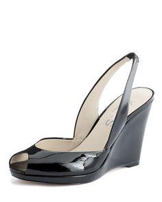 c791488186f KORS Michael Kors Vivian Patent Wedge. Michael Kors Shoes · Wedge Sandals  ...