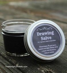 DIY-Drawing Salve: Do you have slivers? Not anymore! The salve is easy to make and the ingredients are readily available. Once the ingredients are mixed together the salve can be stored in a glass container.