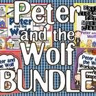 4 Awesome Peter and the Wolf sets: bulletin board, exit tickets, matching card game and worksheet set.
