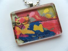 You can order your child's artwork to be put into this pendant!