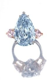 pink and blue diamond ring